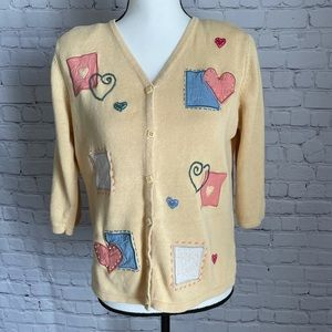 Christopher & Banks Hand embroidered Cardigan sz M
